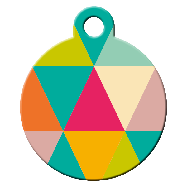 Zigzag girl dog ID tag