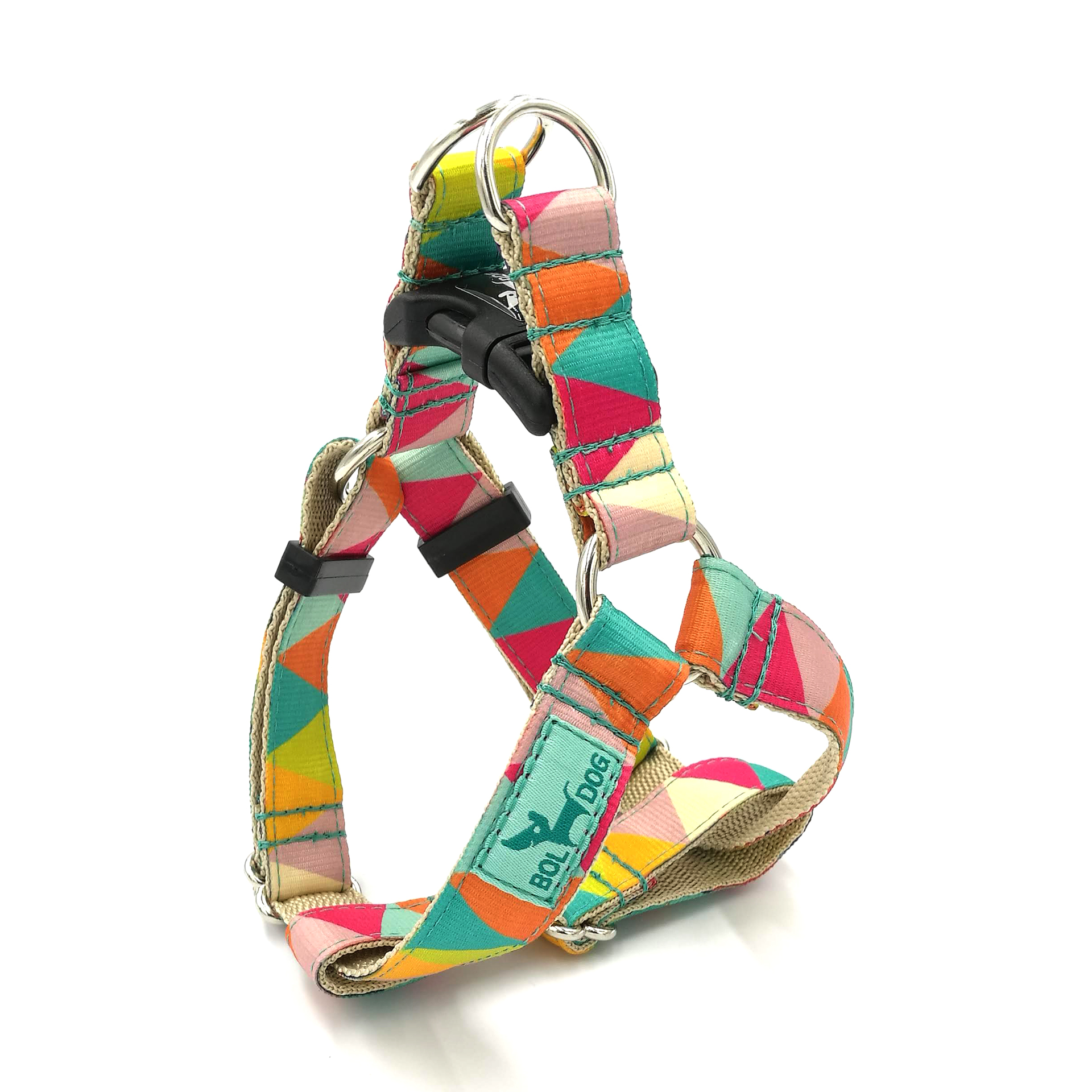 Zigzag girl dog harness