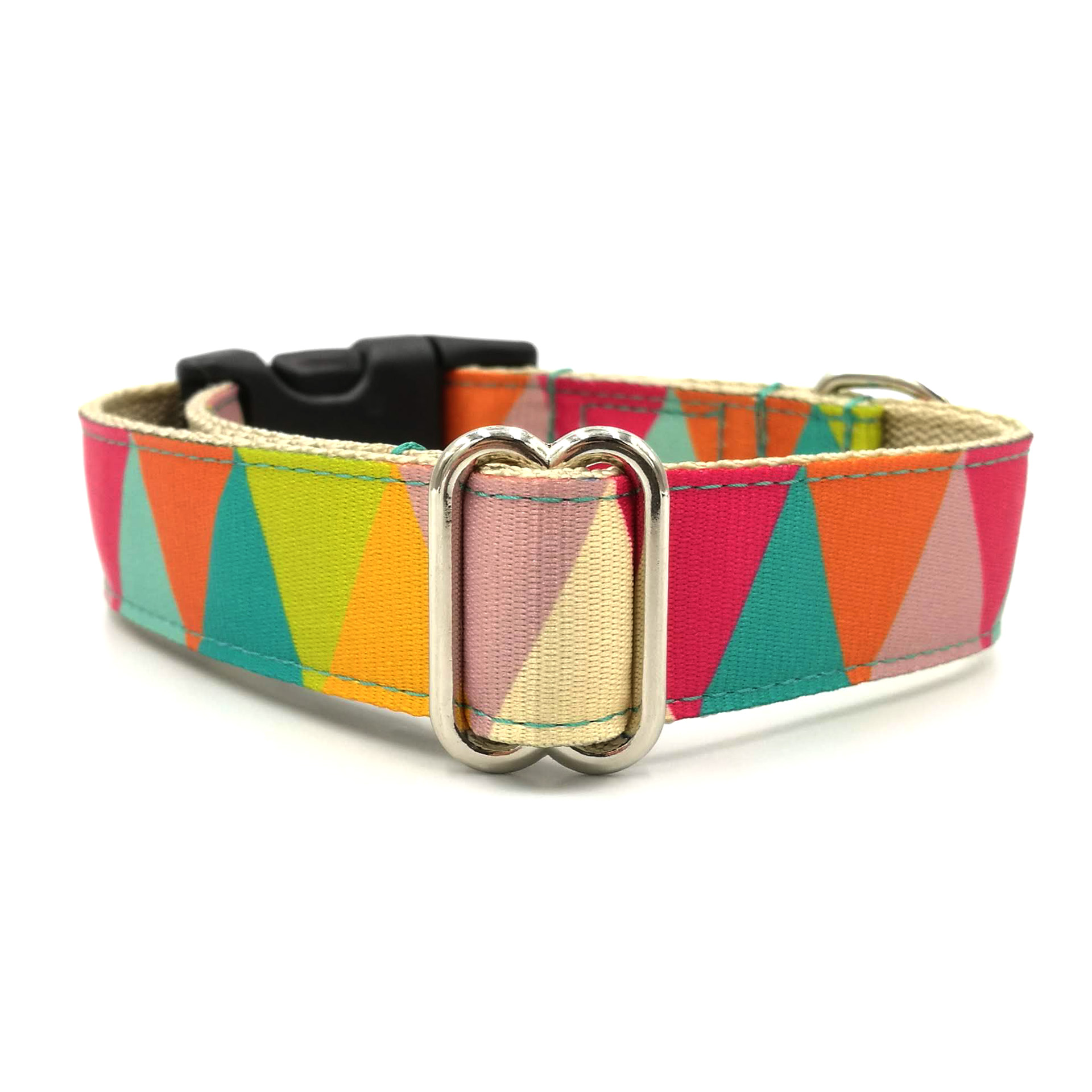 Zigzag girl dog collar