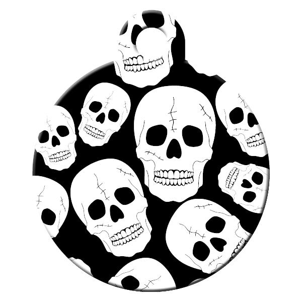 Skull dog ID tag