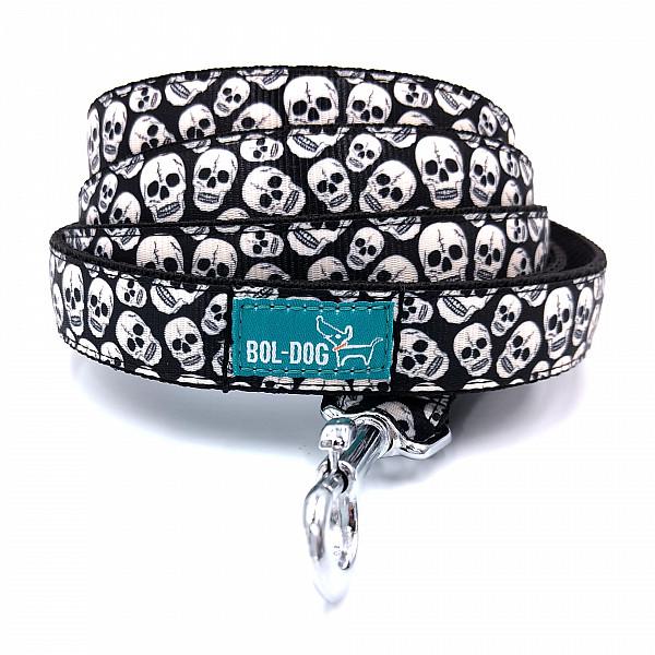 Skull dog leash