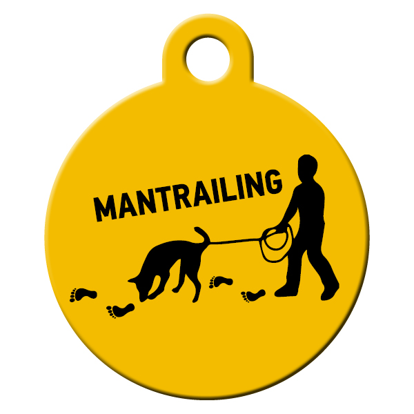 Mantrailing dog ID tag