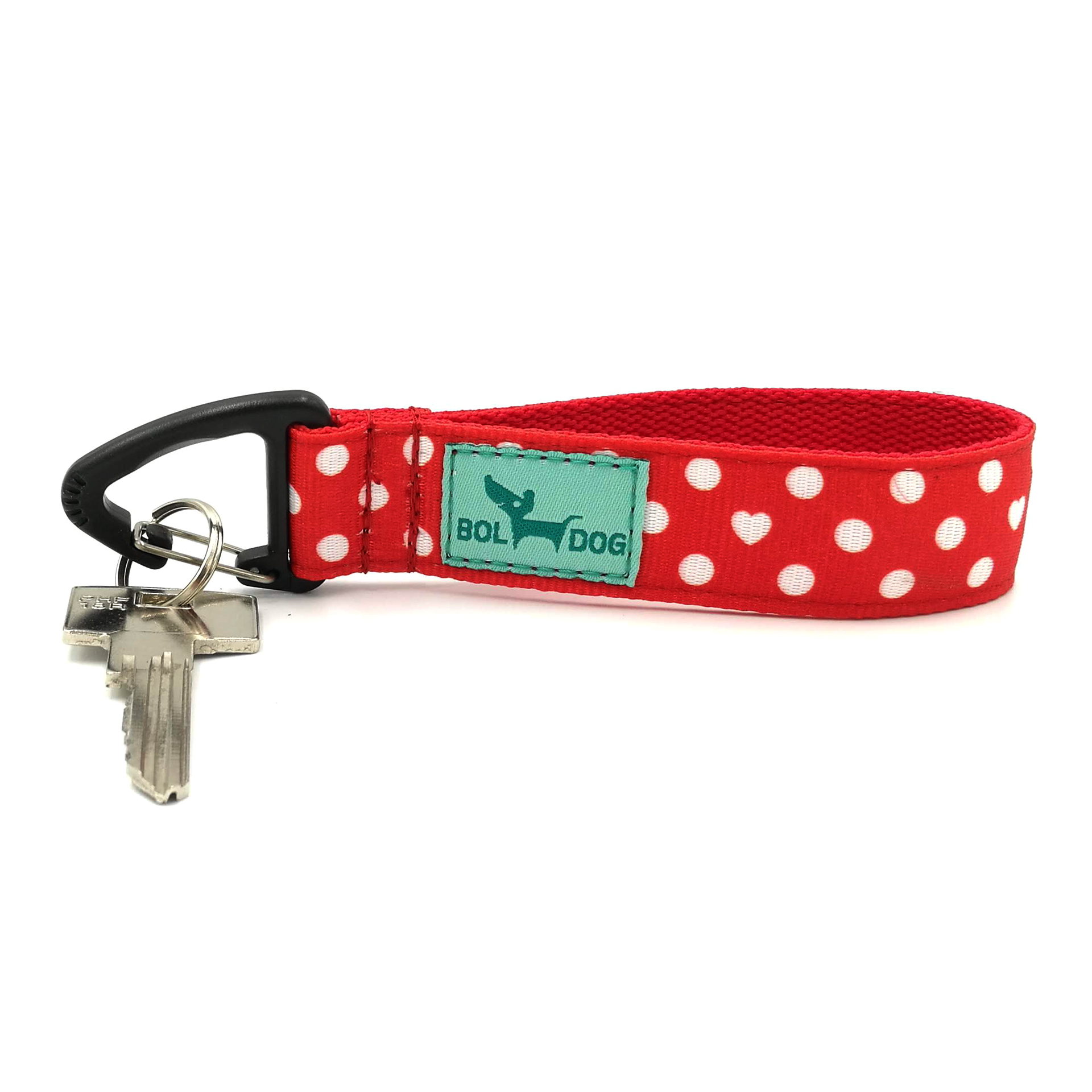Red polka dots key holder