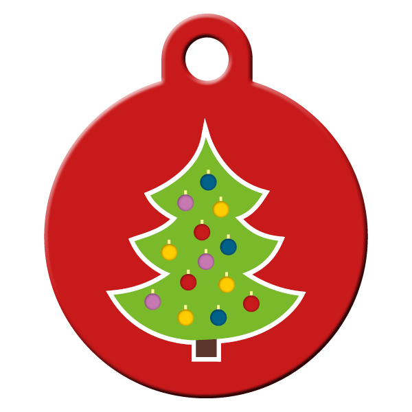 Christmas dog id tag
