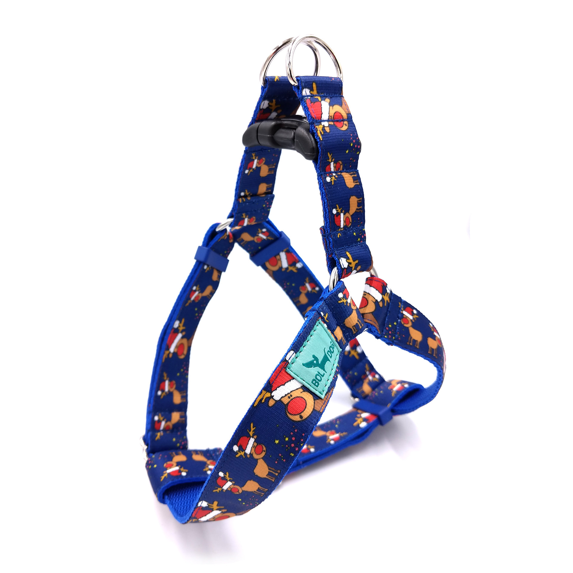 Rudolph blue dog harness