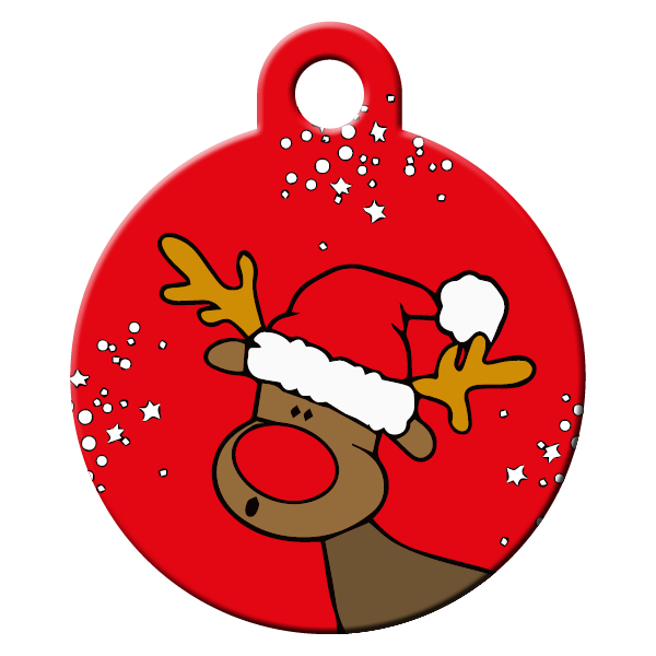 Rudolph red dog id tag
