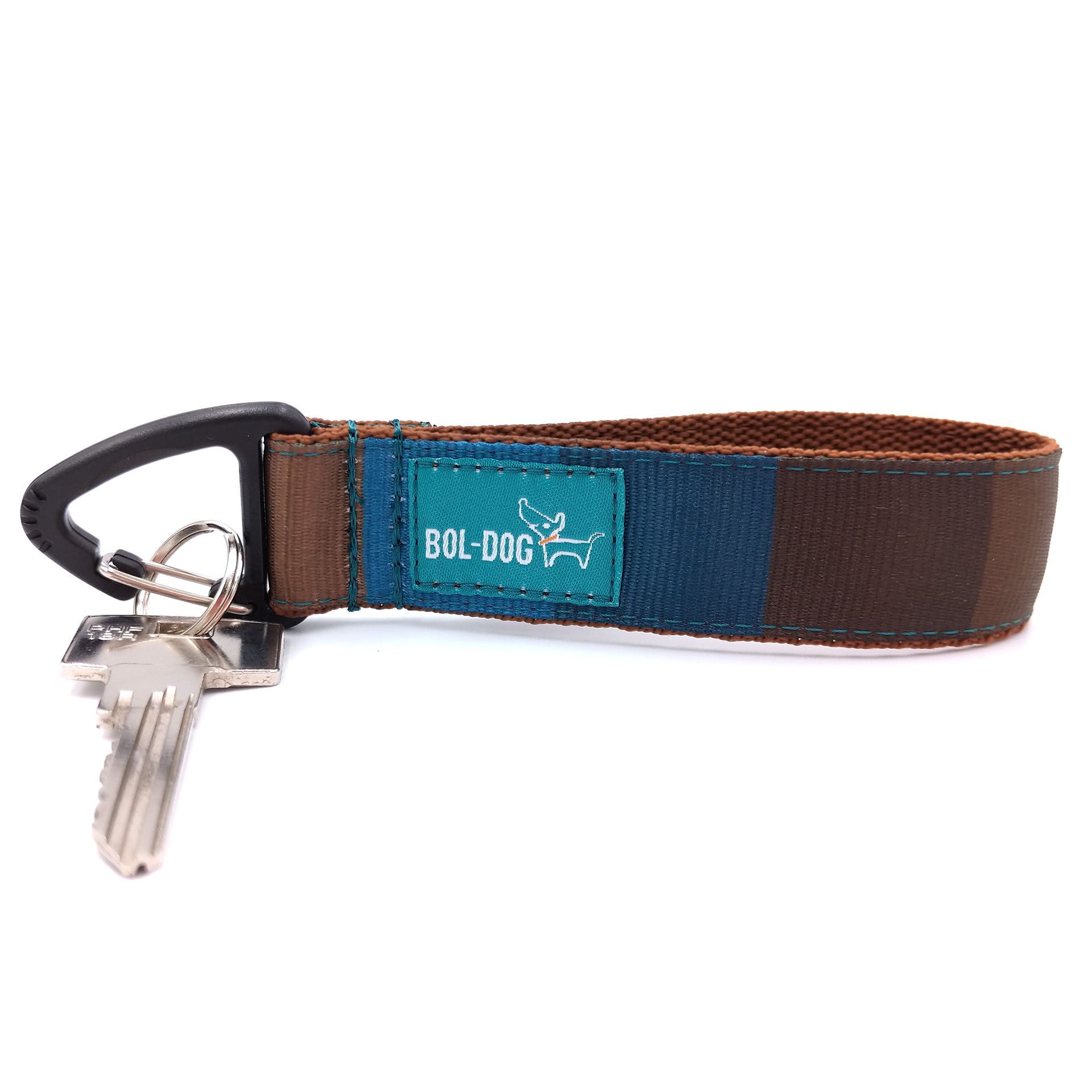 Brownblue key holder