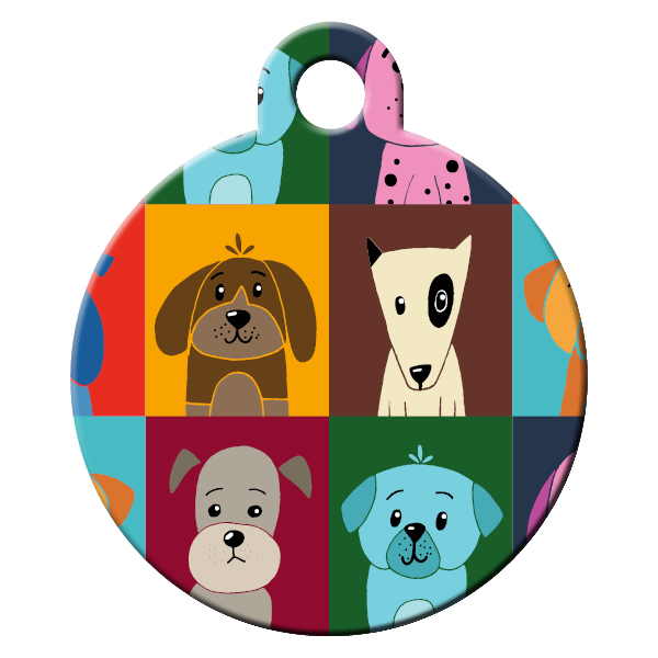 Dog school dog ID tag