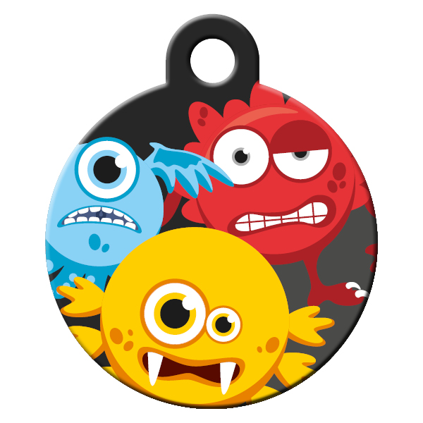 Monsters dog ID tag