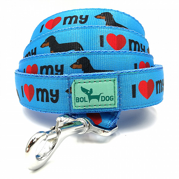Dachshund b. leash