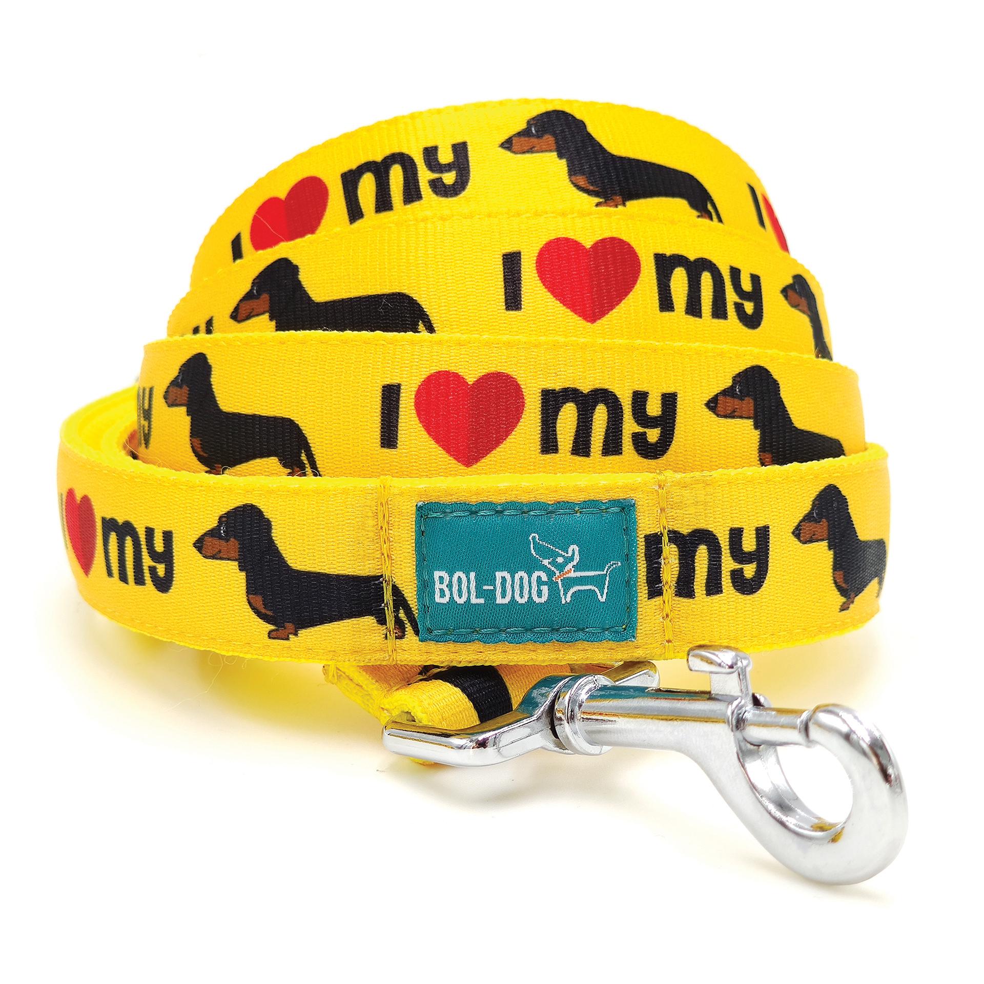 Dachshund yellow dog leash