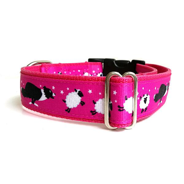 Bárány kergető pink kutya nyakörv