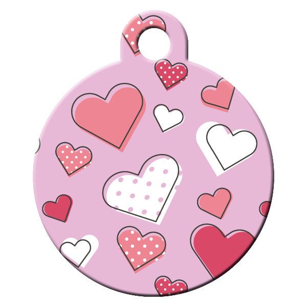 My heart dog ID tag