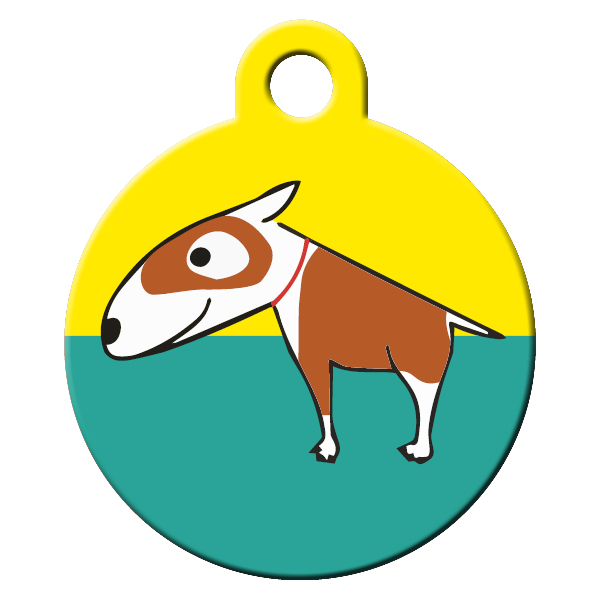 Bull terrier dog ID tag