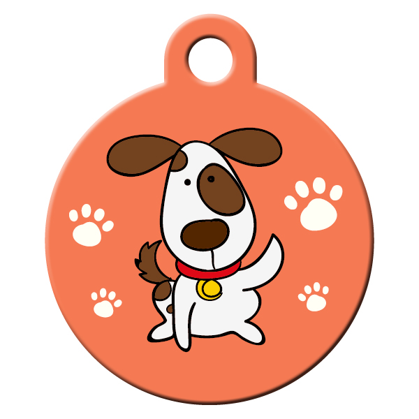 Spotted dog ID tag