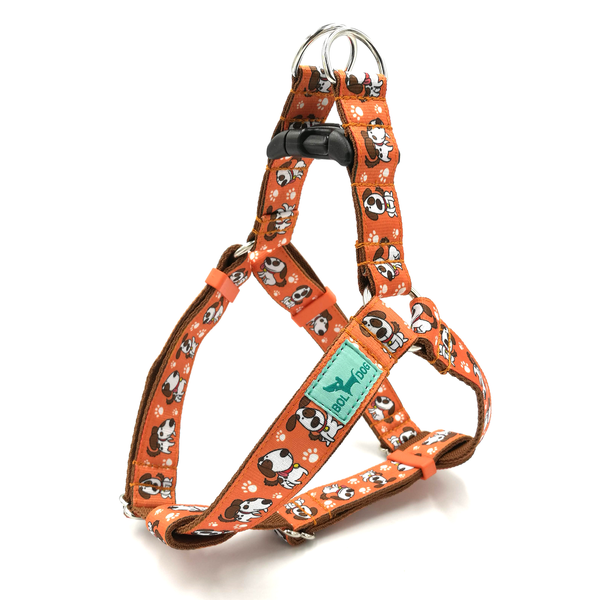 Spotted dog harness