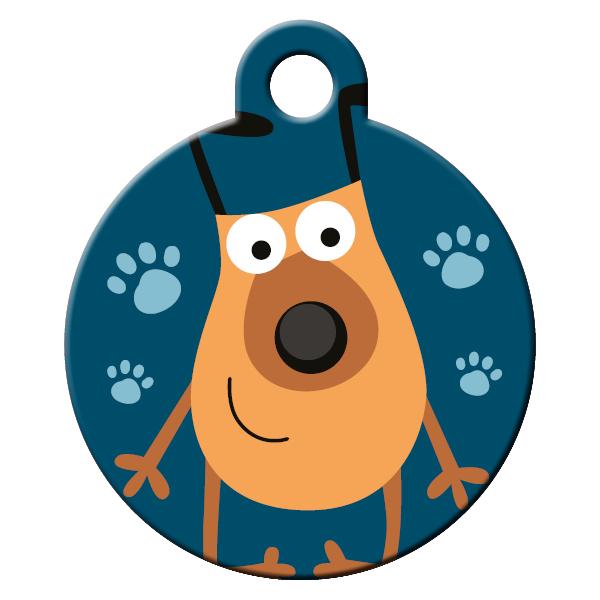 Foodie dog ID tag