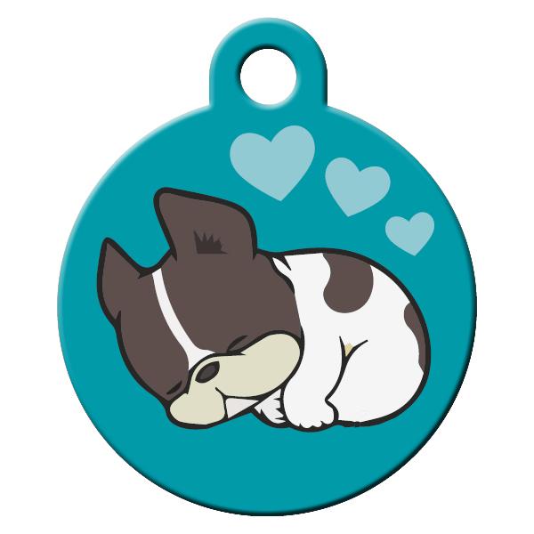 Sleepy dog ID tag