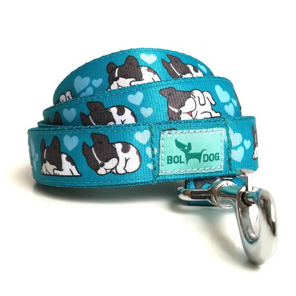 Sleepy blue dog leash
