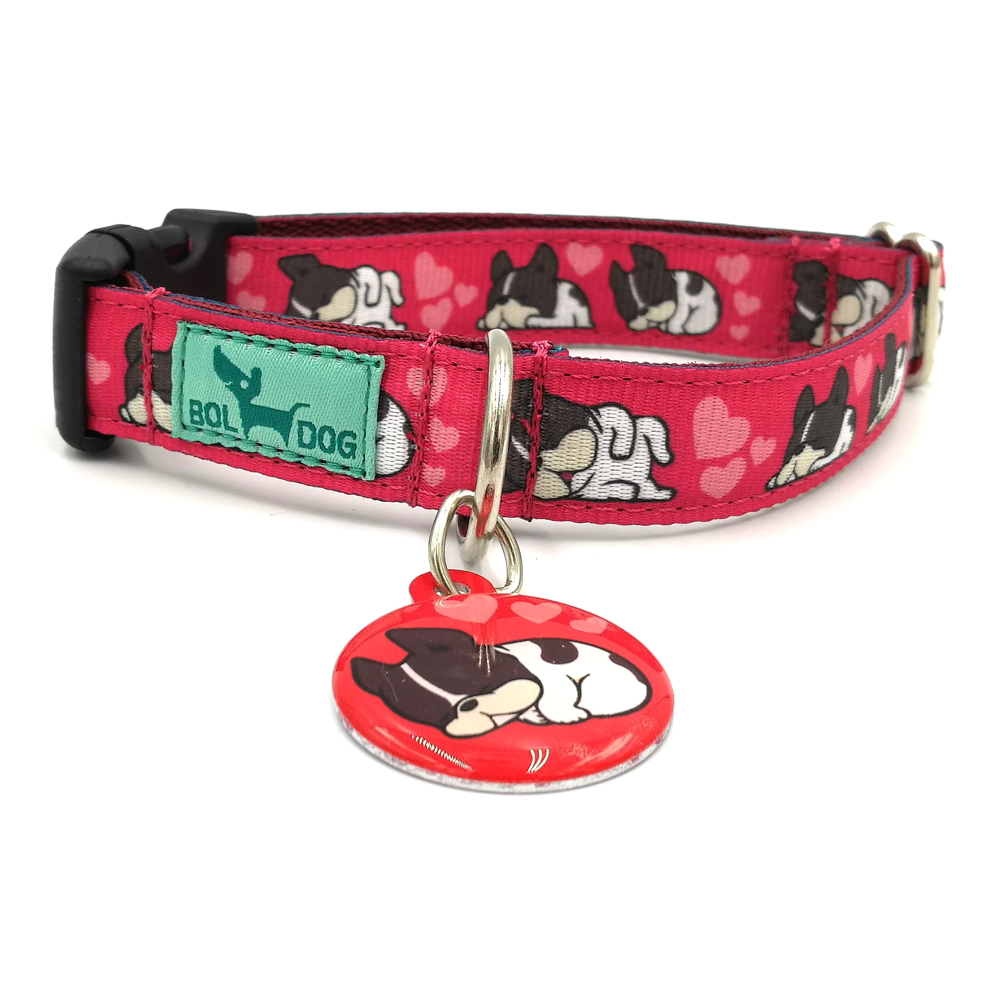 boston dog collar