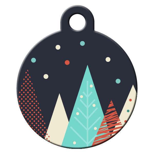 Trees dog ID tag