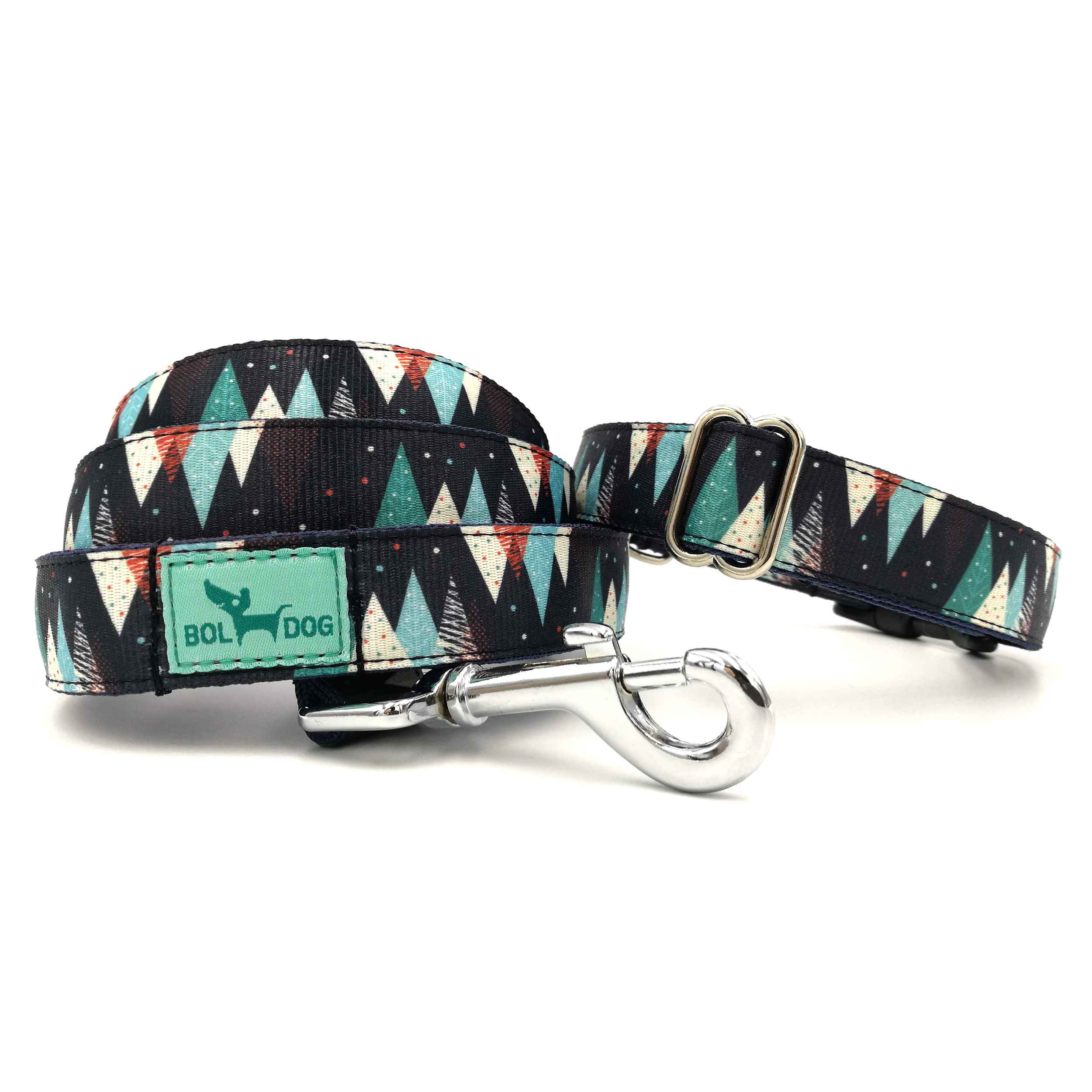 christmas trees dog collar and leash