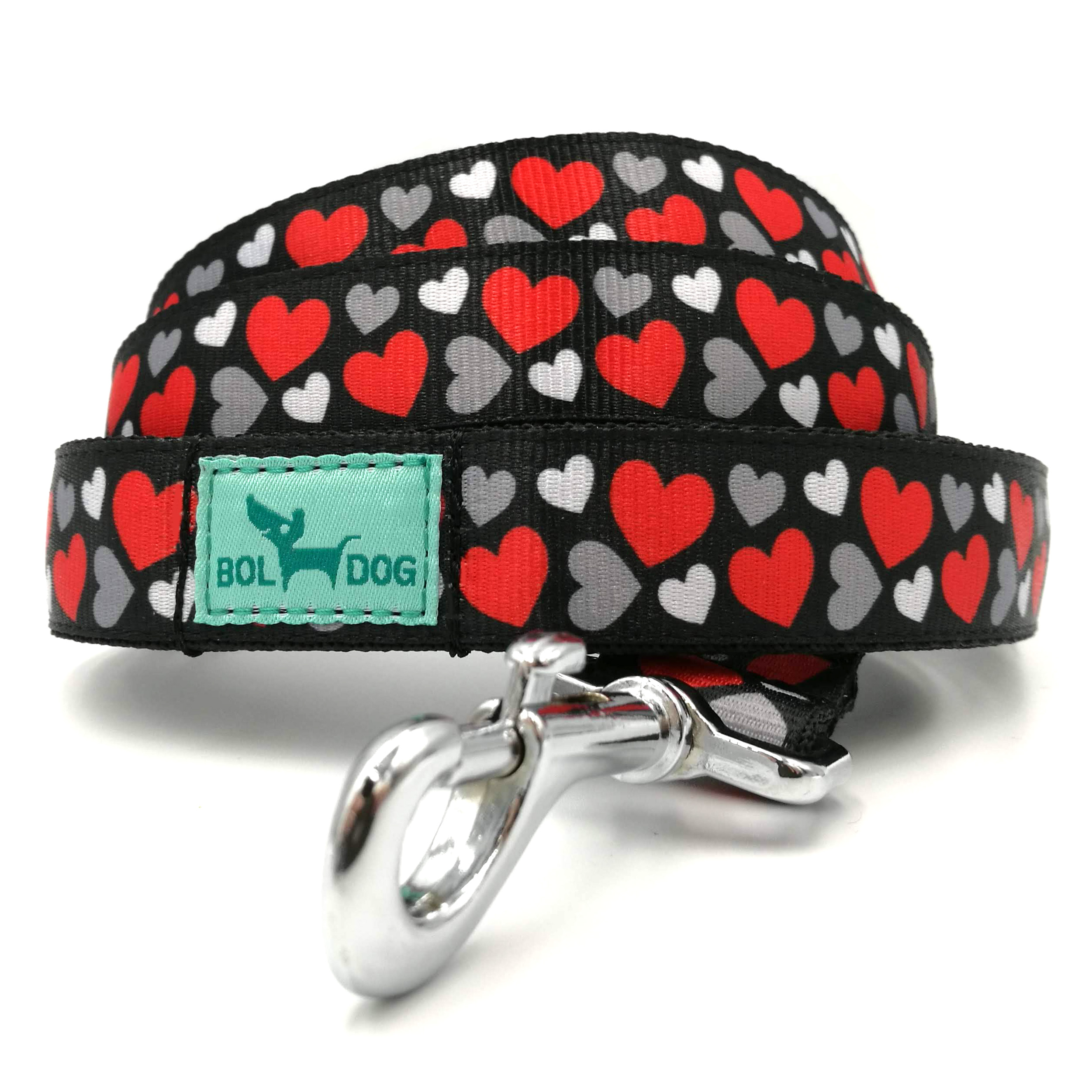 heart patterned dog leash