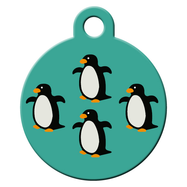 Penguin dog id tag.