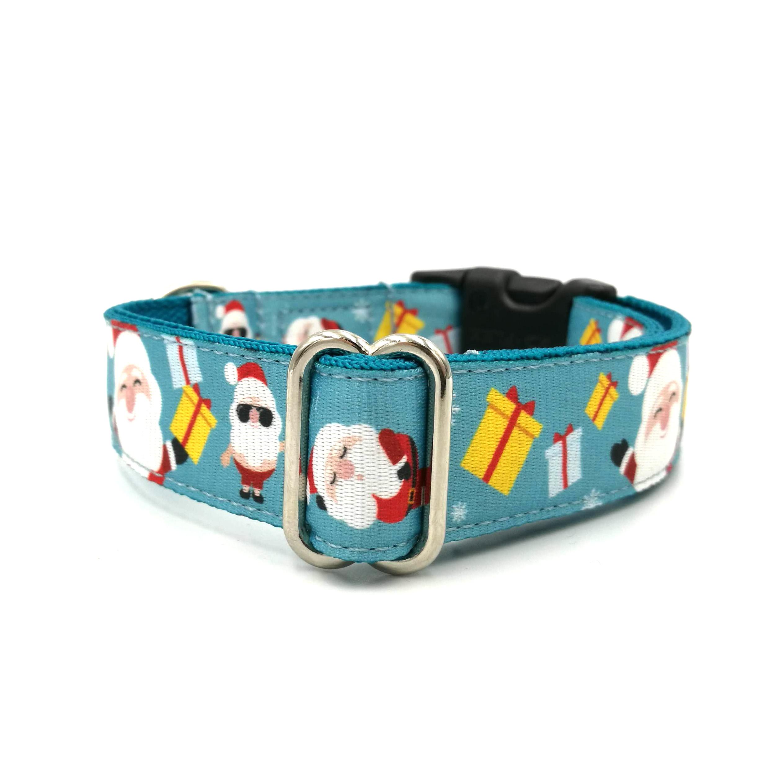 Santa patterned dog collar