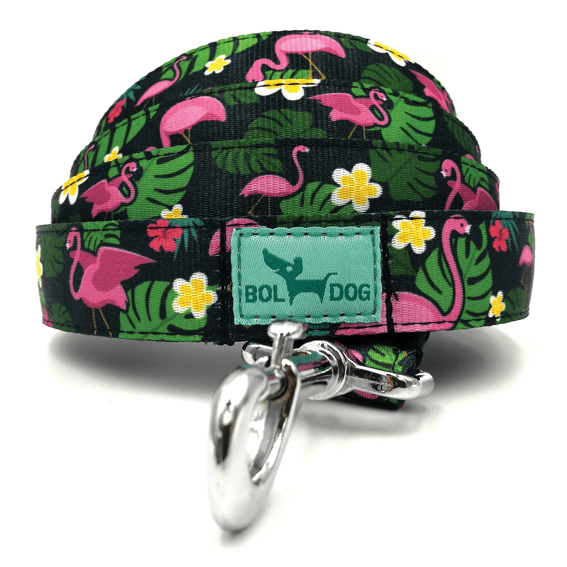 Flamingo dark blue dog leash