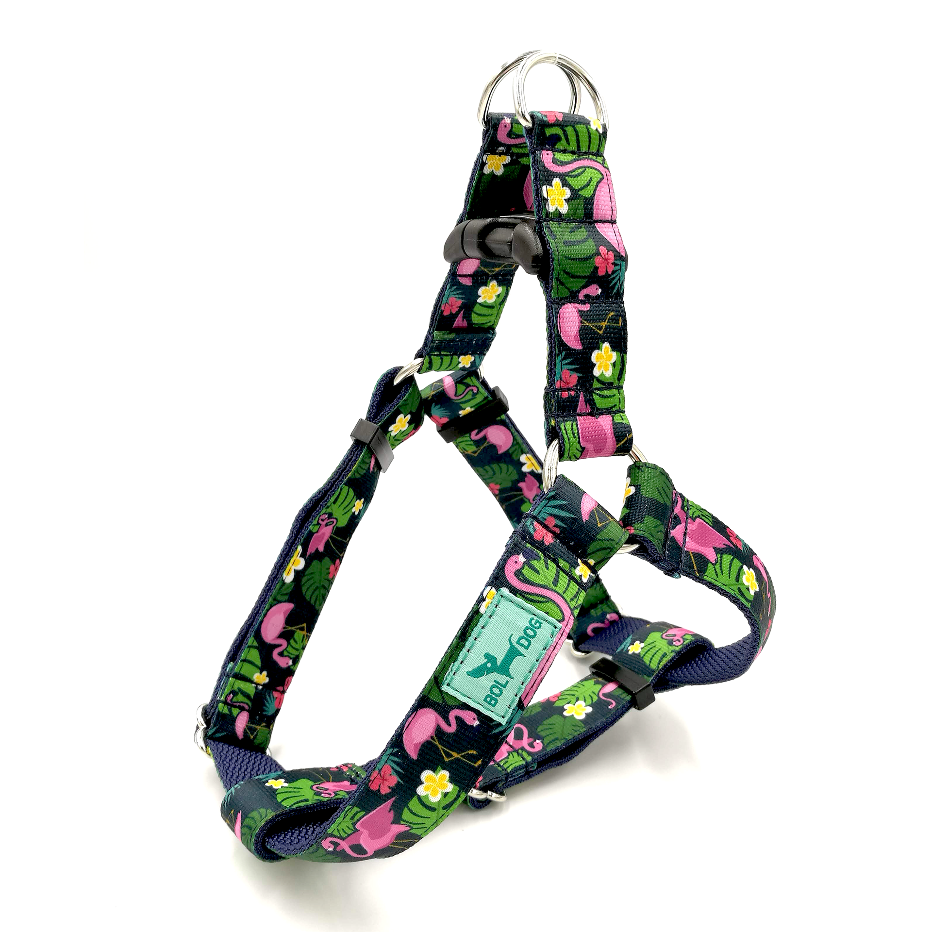 Flamingo dark blue dog harness