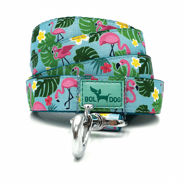 Flamingo light blue leash