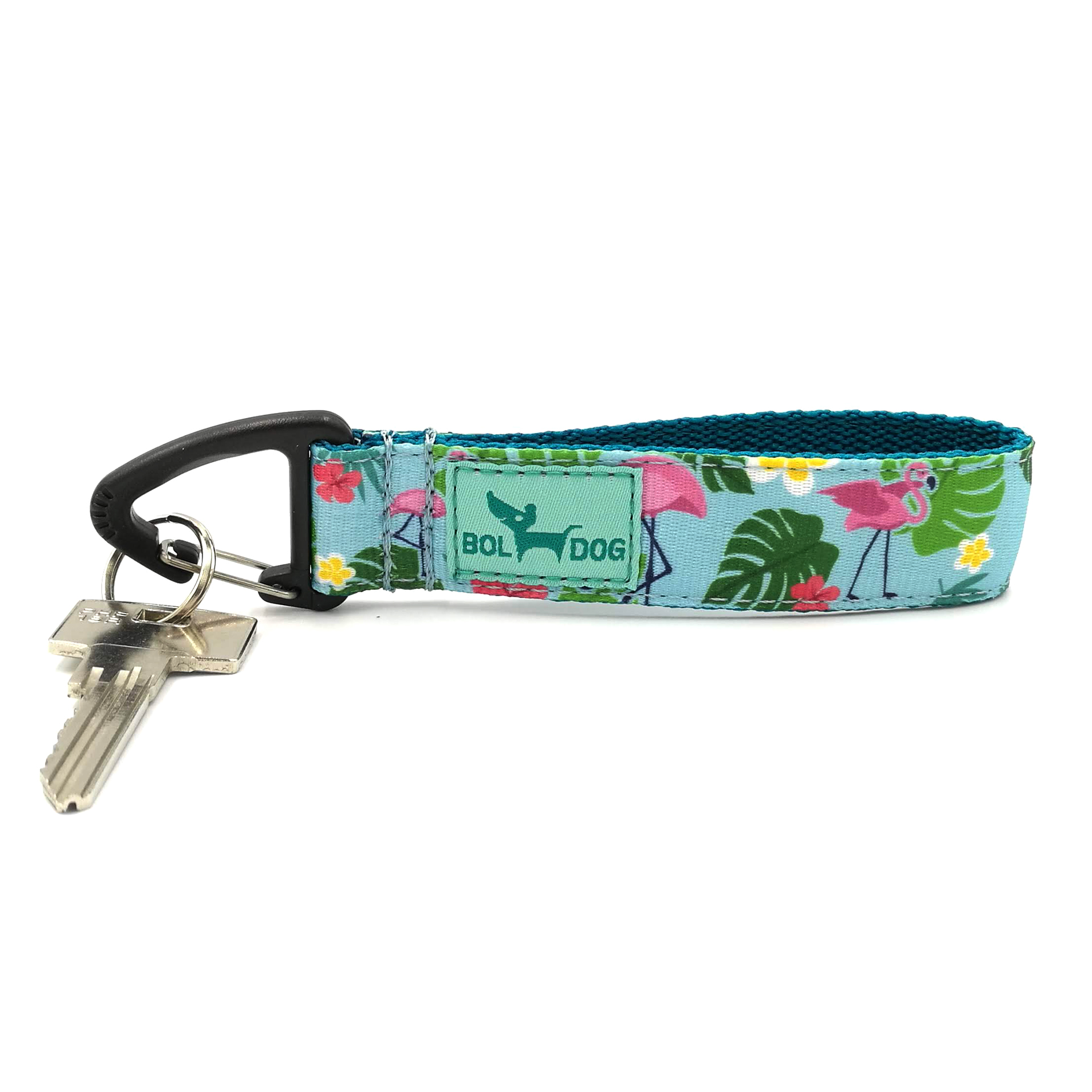 Flamingo light blue key holder
