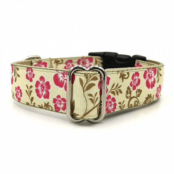 Hibiscus dog collar
