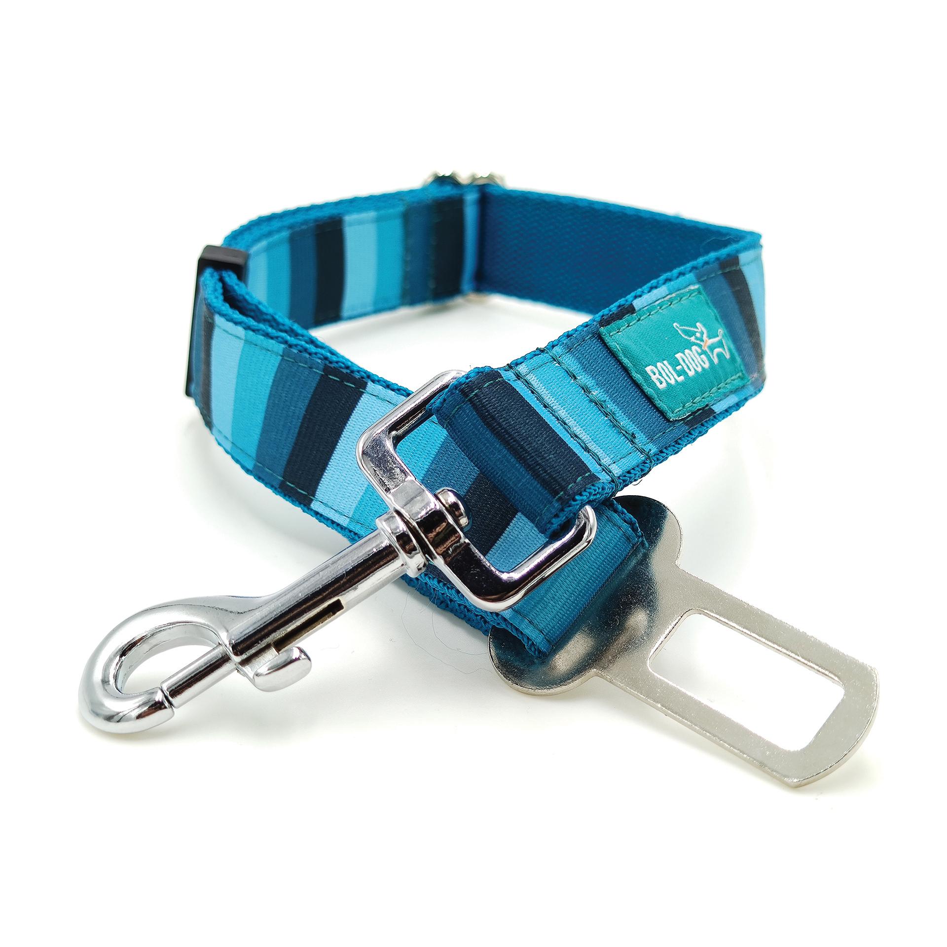 Blue striped safety belt