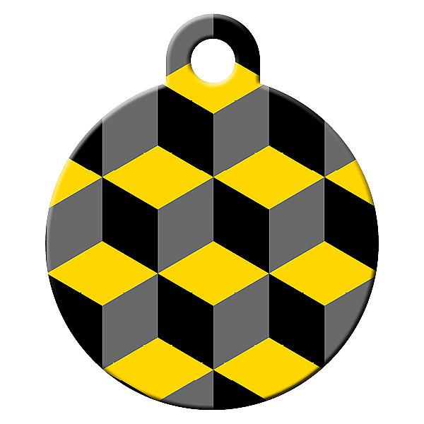 Cube dog ID tag
