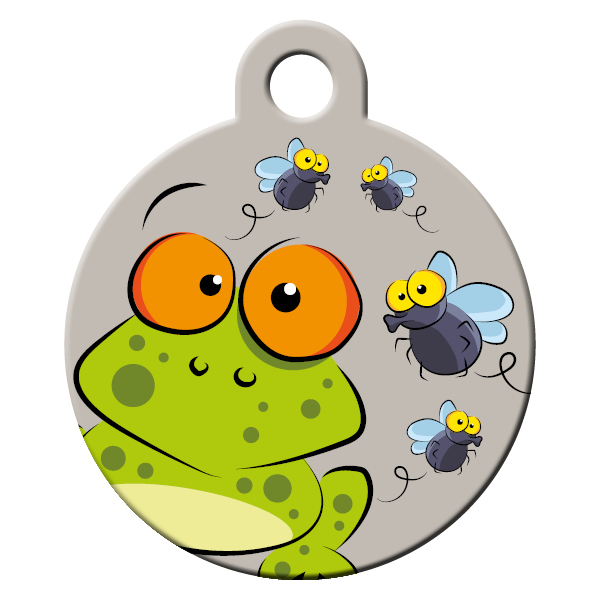 frogs pattern dog id tag