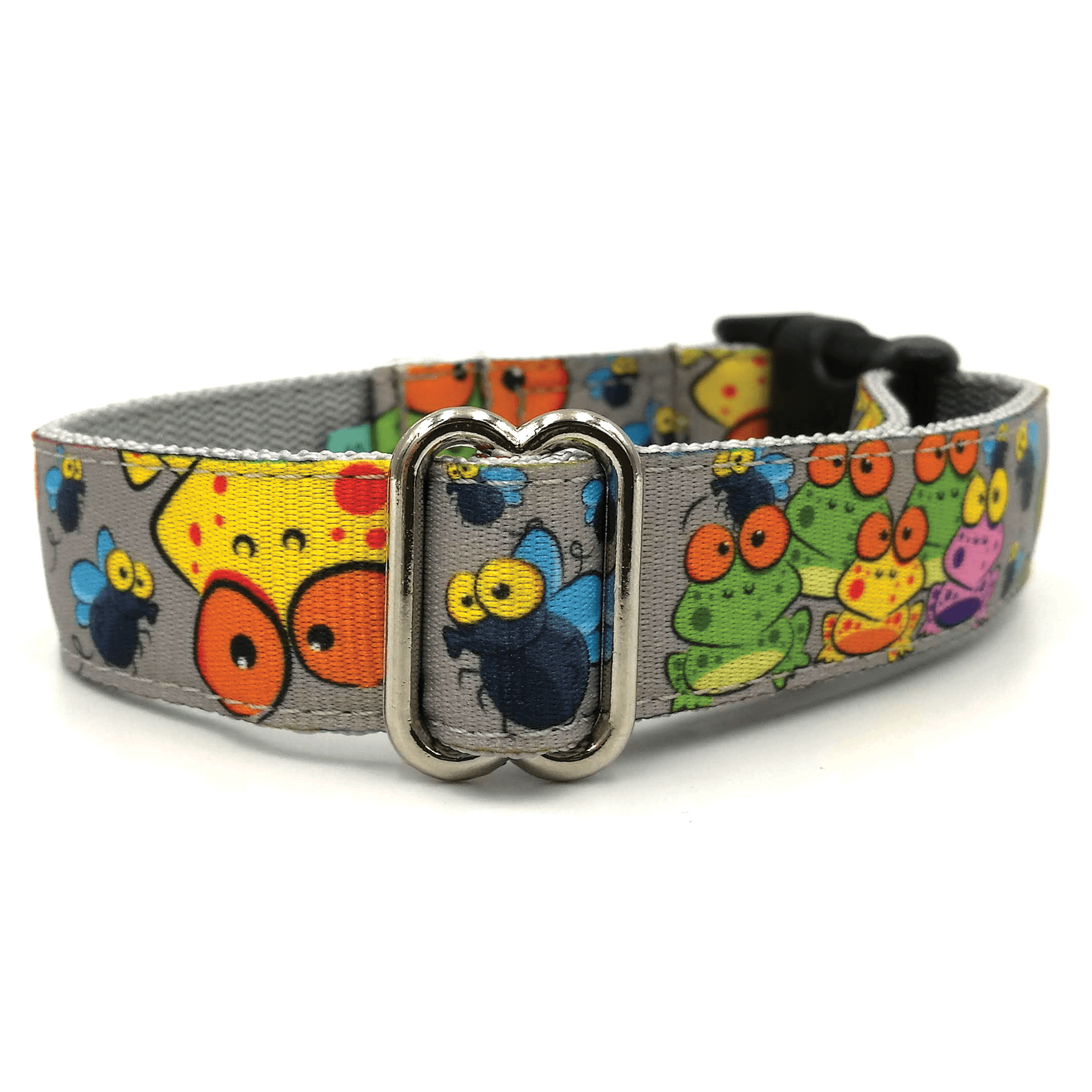 frogs pattern dog collar