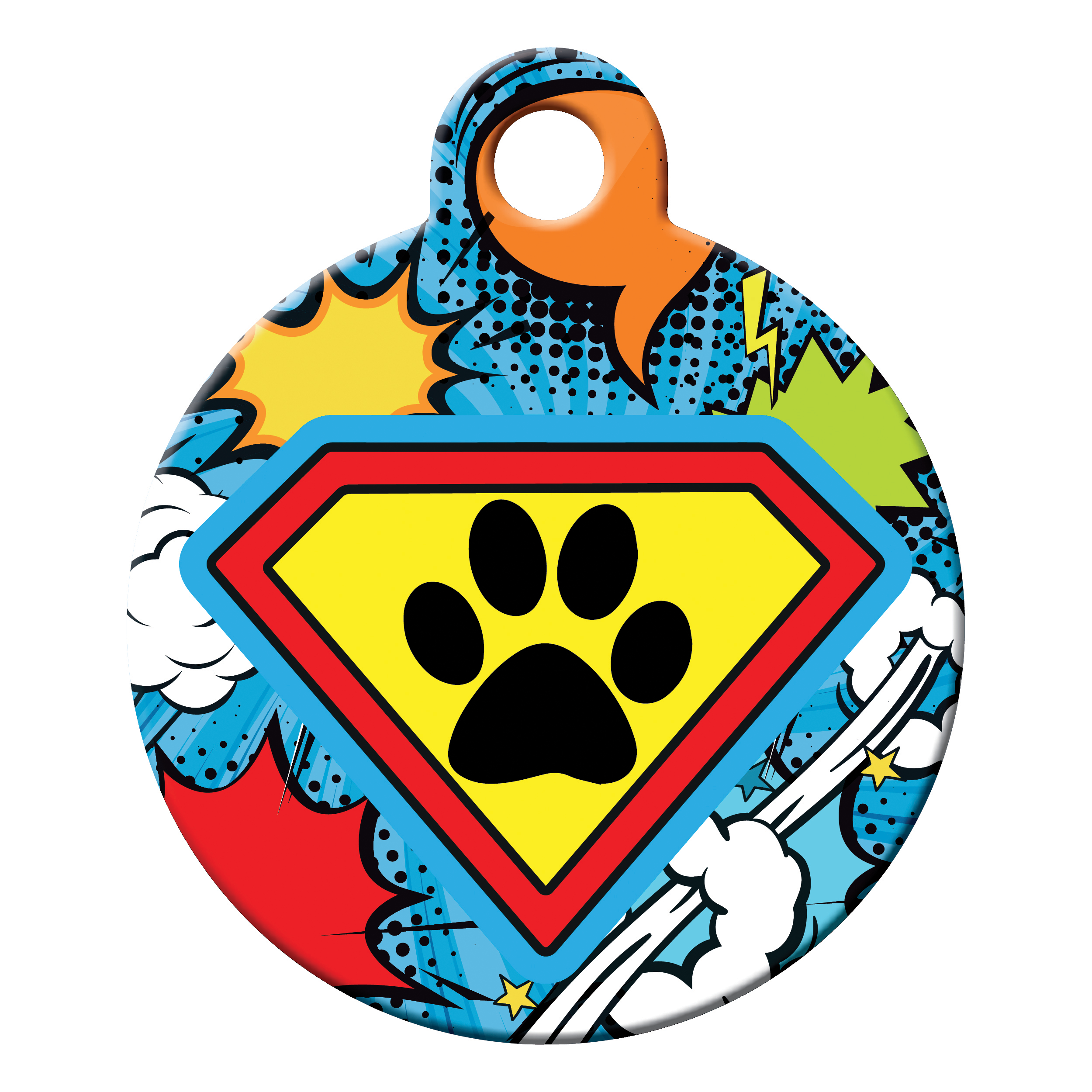 Superdog dog ID tag