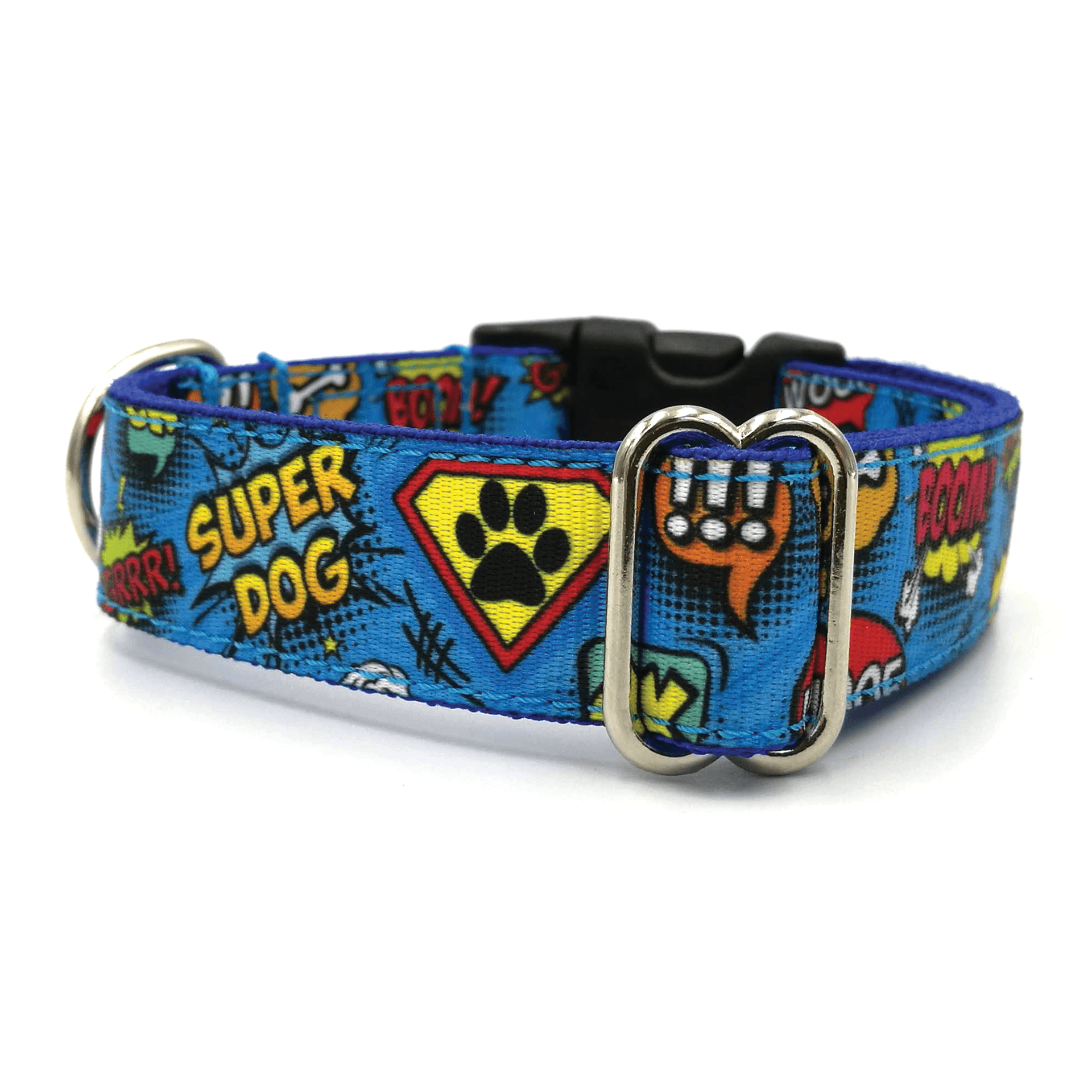 superdog pattern dog collar