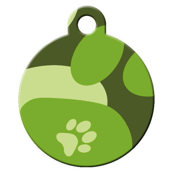 Soldier pattern dog id tag
