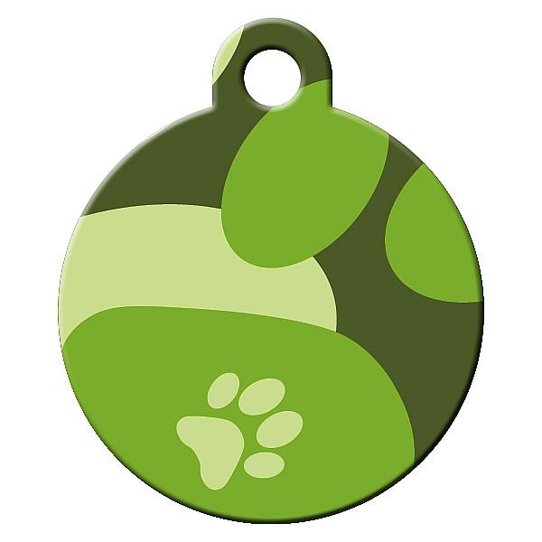 Camo dog ID tag