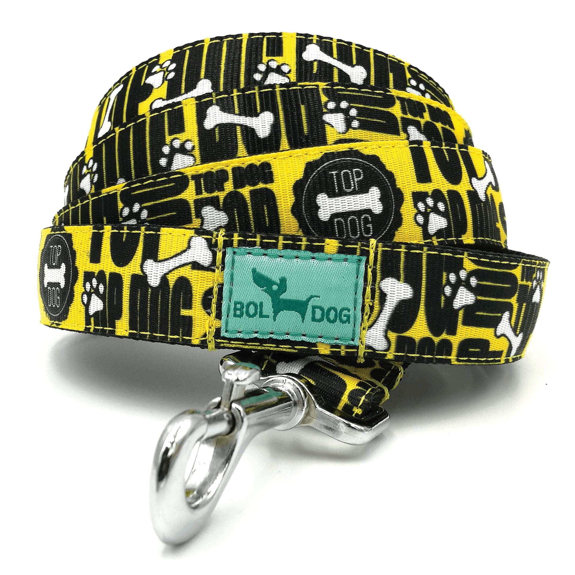 Topdog feliratos textil kutya póráz Bol-Dog