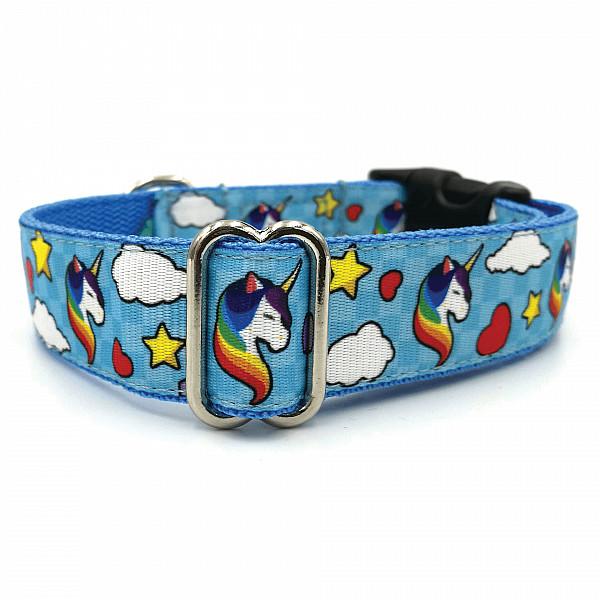 Unikornis kék kutya nyakörv