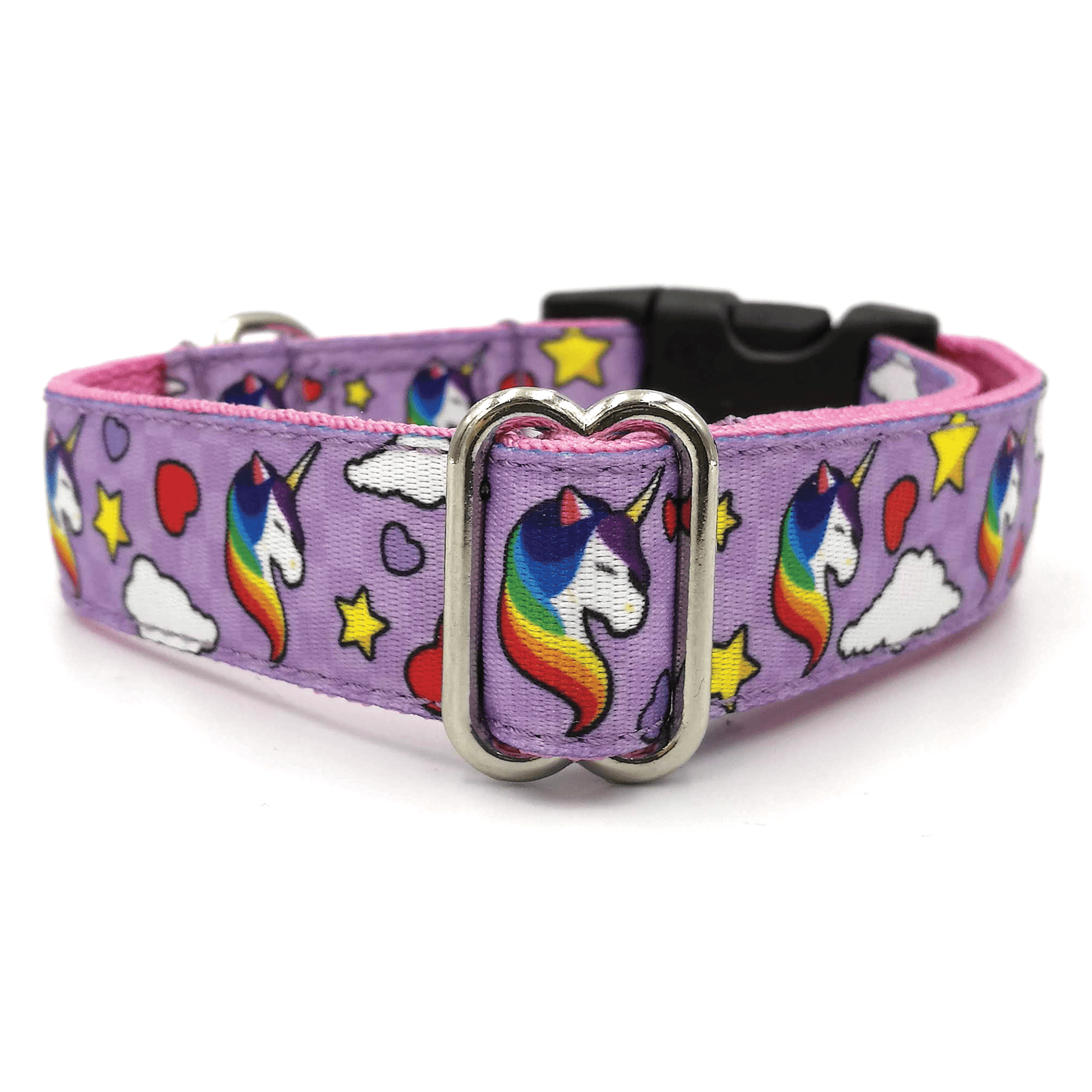Unicorn Purple dog collar