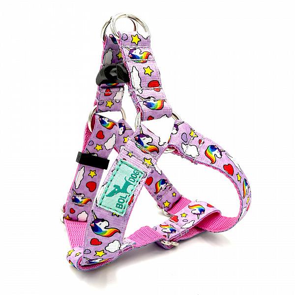 Unicorn purple dog harness