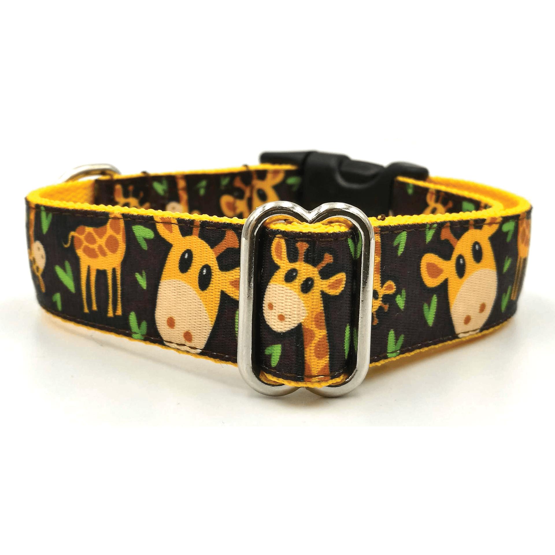 Giraffepattern  textile material dog collar Bol-Dog