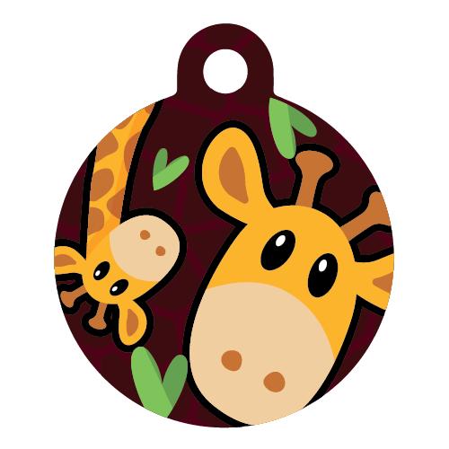 Giraffe dog ID tag