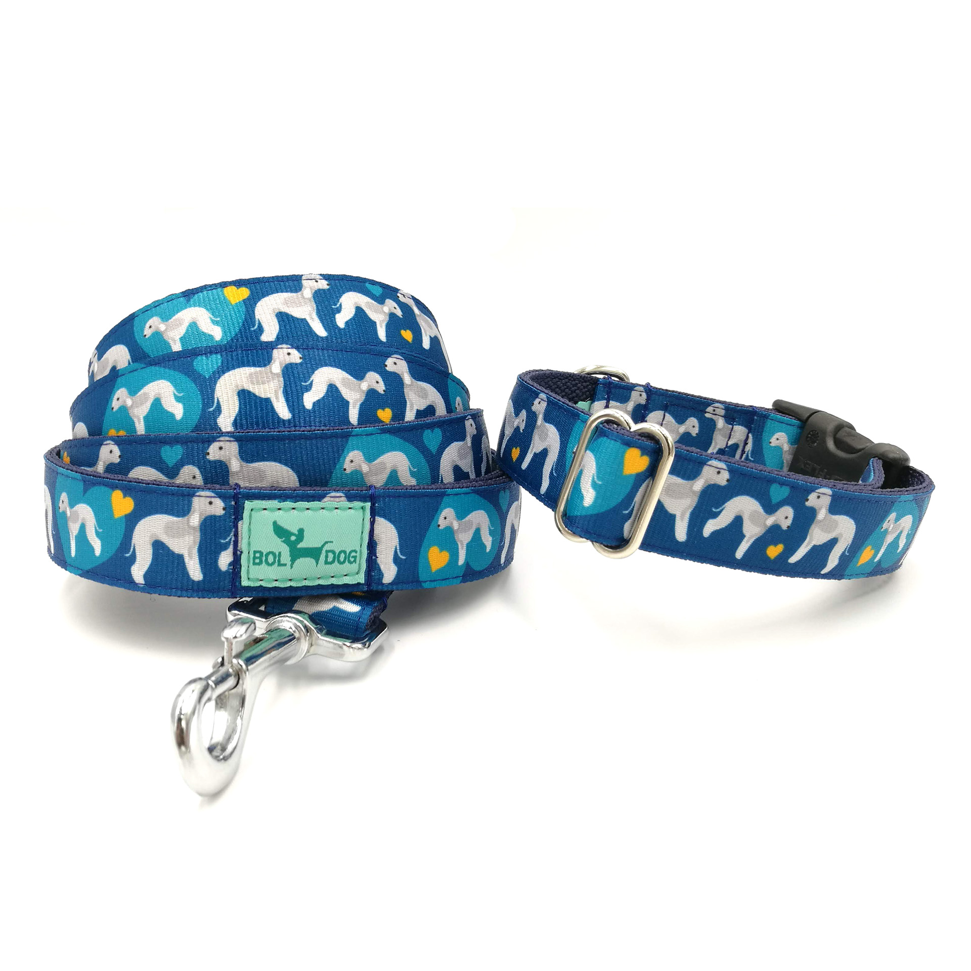 bedlington leash and collar