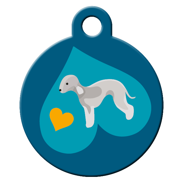 Bedlington terrier dog ID tag